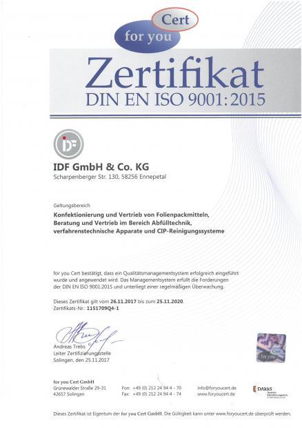 ISO-Zertifikat, deutsch 26.11.2017-25.11.2020
