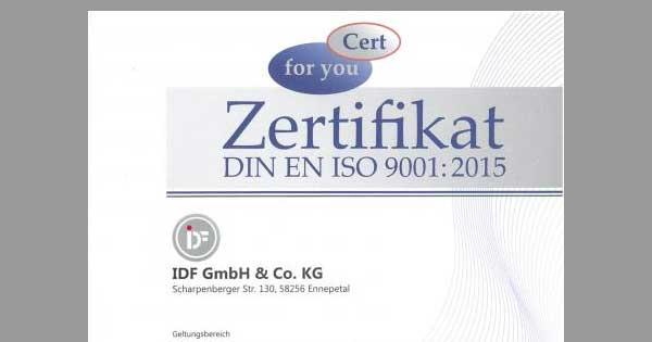 IDF-Zertifikat